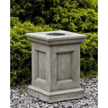 Barnett Cast Stone Traditional Decorative Outdoor Pedestal