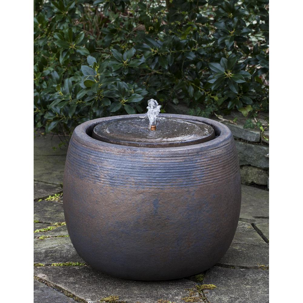 Ceramic Pot Fountains: Small Ceramic Outdoor Boden Fountain Bronze