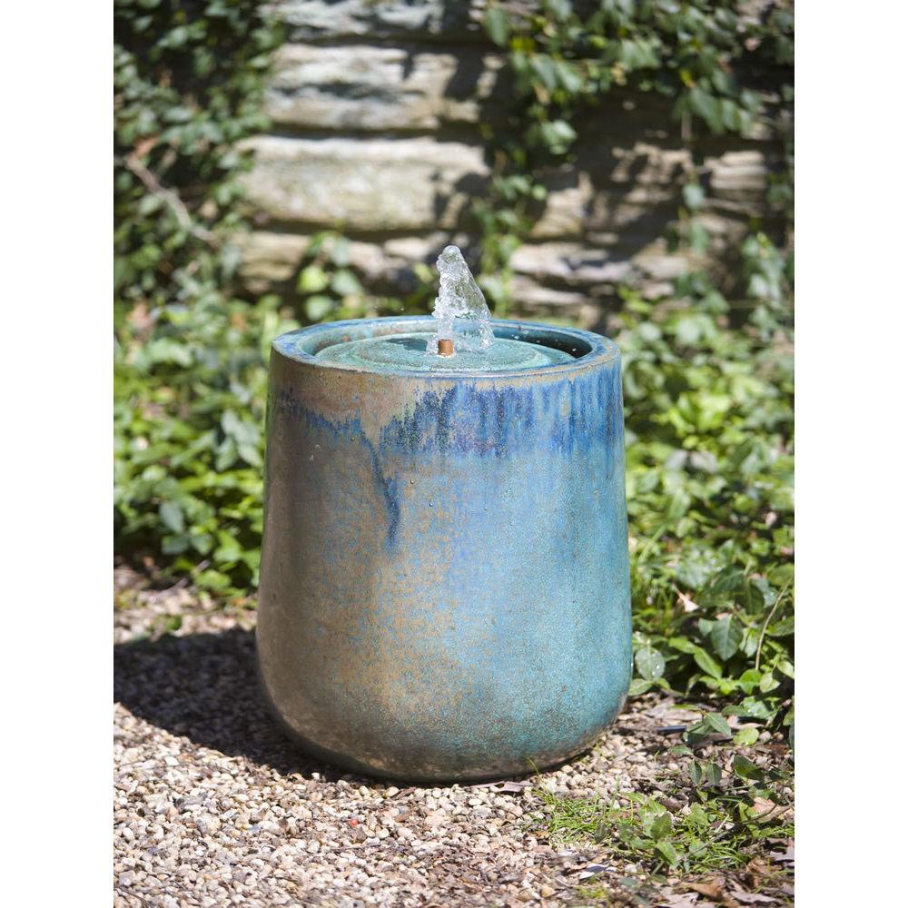 Ceramic Pot Fountains: Ceramic Daralis Fountain Weathered Copper
