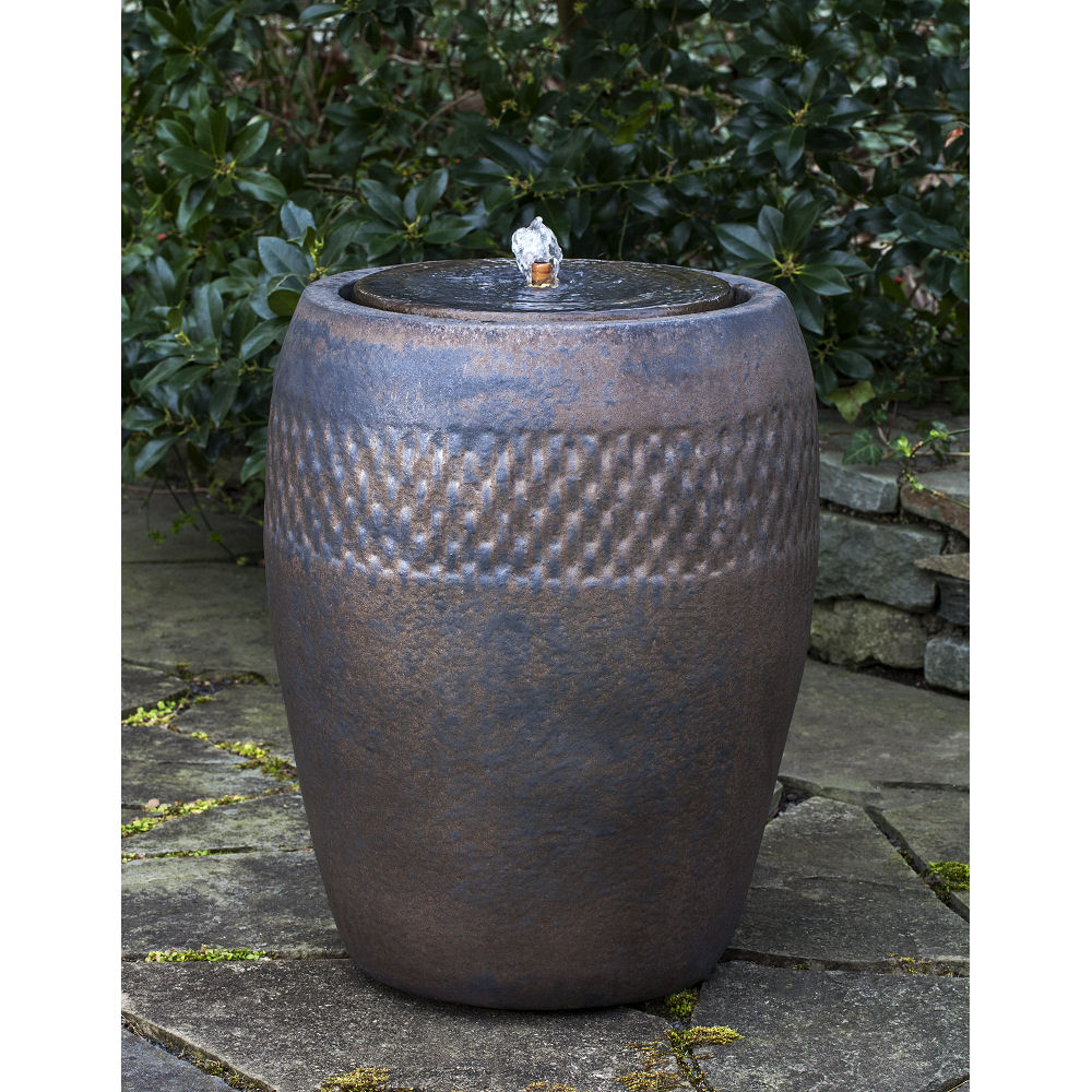 Ceramic Pot Fountains: Tall Bronze Ceramic Pottery Outdoor Fountain