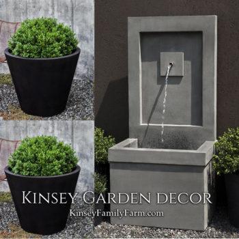 Kinsey Garden Decor Brentwood fountain planters set