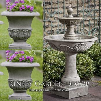 Kinsey Garden Decor Acanthus Fountain set