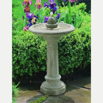 Kinsey Garden Decor Acorn Bird Bath Fountain