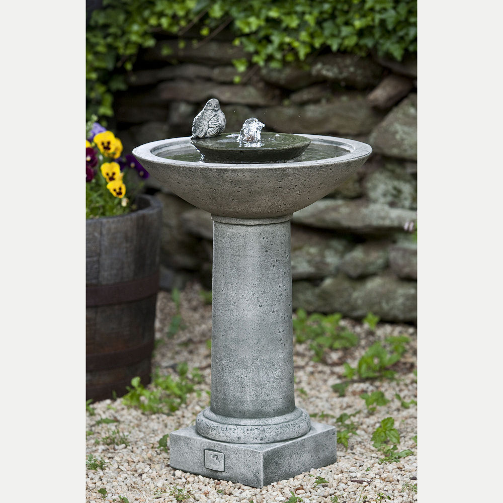 Aya Tall Pedestal Bird Bath Water Fountain Kinsey Garden