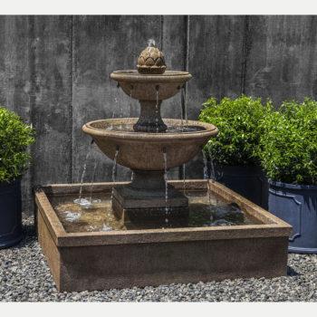 La Mirande Basin Tier Outdoor Water Fountain
