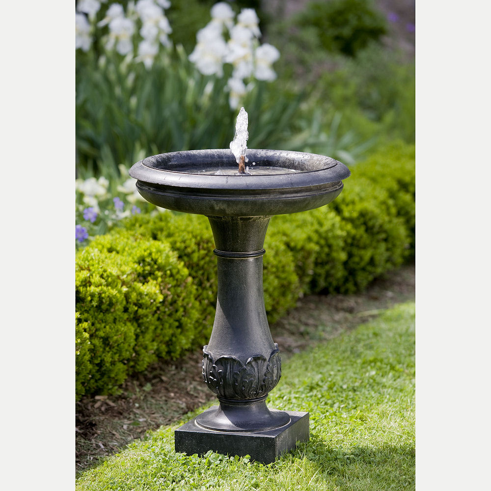 Acanthus Chatsworth Bird Bath Water Fountain Kinsey