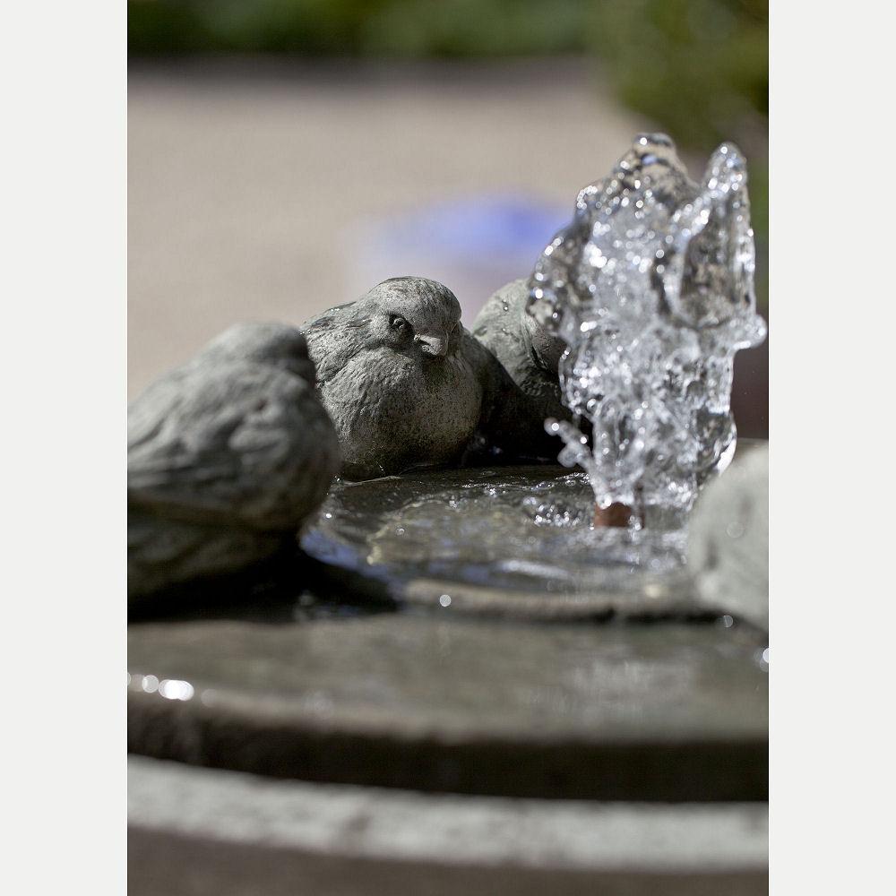 Passaros Ii Outdoor Pedestal Water Fountain Kinsey Garden