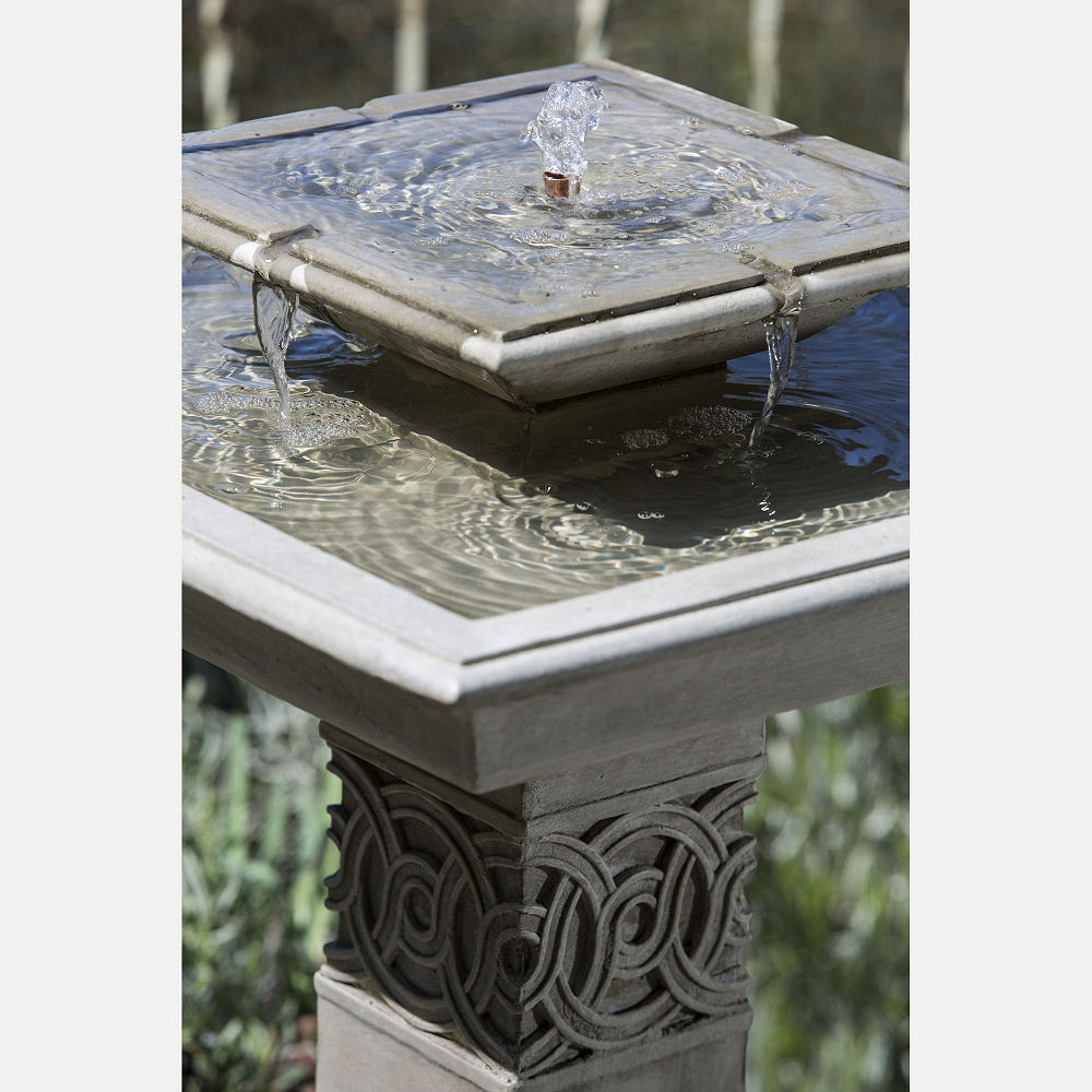Square Portwenn Bird Bath Water Fountain Kinsey Garden Decor