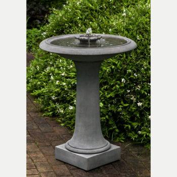Kinsey Garden Decor Camellia Bird Bath Fountain
