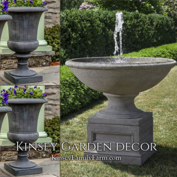 Kinsey Garden Decor Condotti fountain set