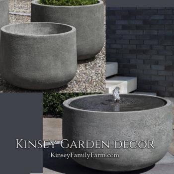 Kinsey Garden Decor Echo Park Fountain set