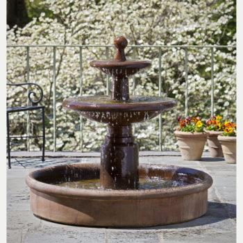 Kinsey Garden Decor Esplanade Two Tier Fountain