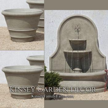 Kinsey Garden Decor Estancia Fountain patio set