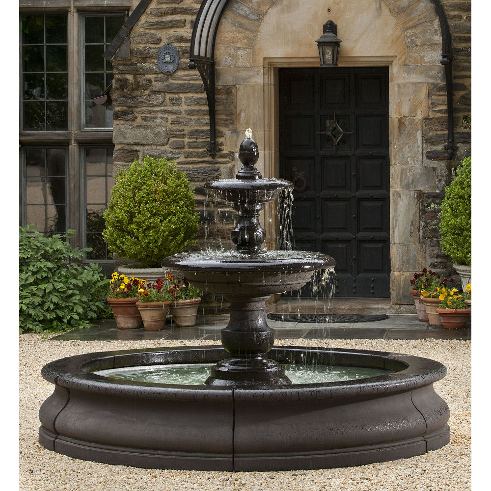 Sunnydaze Tulip 3-Tier Outdoor Water Fountain - 46