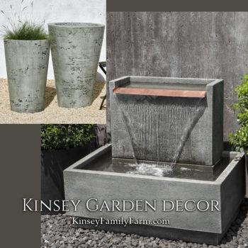 Kinsey Garden Decor Falling Water 2 fountain set