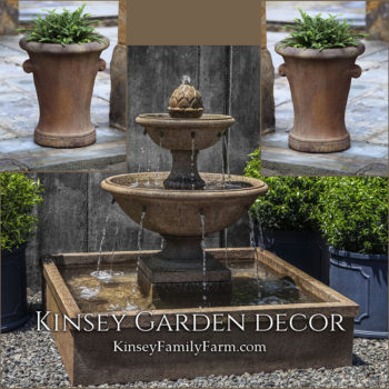 Kinsey Garden Decor La Mirande fountain set