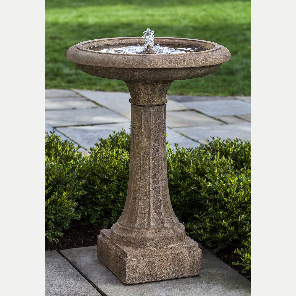 Classic Column Longmeadow Bird Bath Waterfountain Kinsey