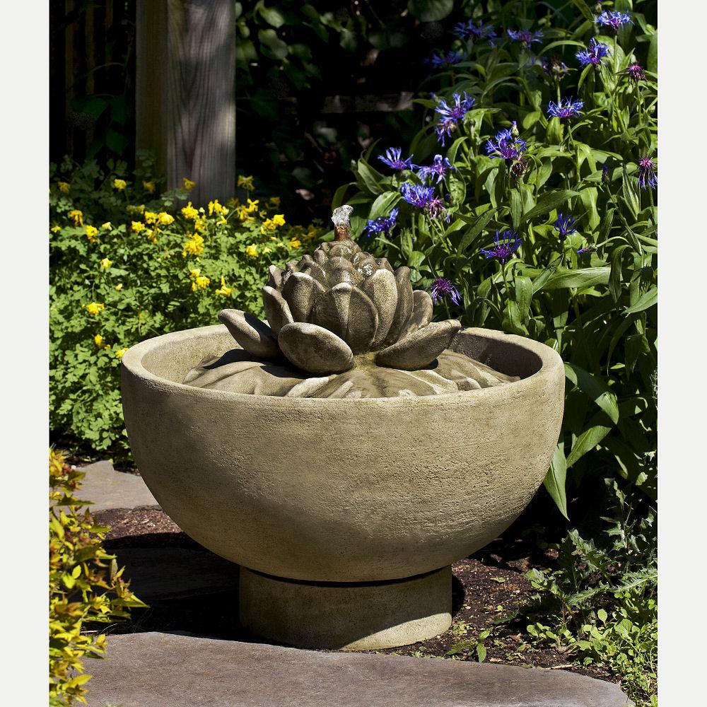 Outdoor Smithsonian Lotus Flower Fountain Kinsey Garden Decor