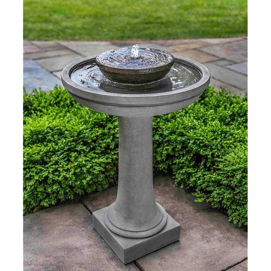 Meridian Fountain Concrete Tall Bird Bath Kinsey Garden