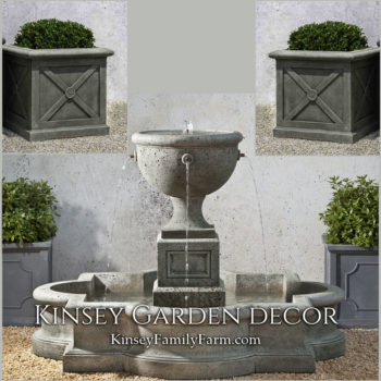 Kinsey Garden Decor Navonna fountain set