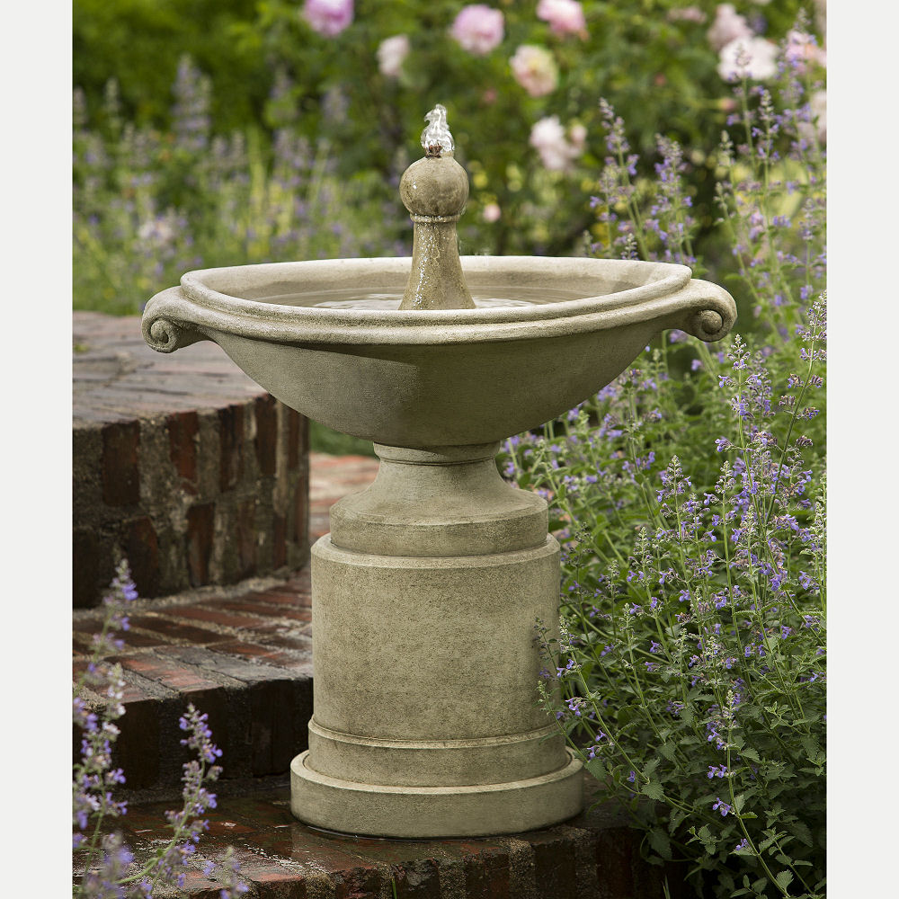 Borghese Small Fountain Urn Planters Set