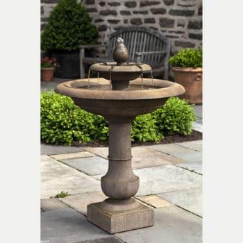 Palos Verdes Tier Cast Stone Outdoor Water Fountain