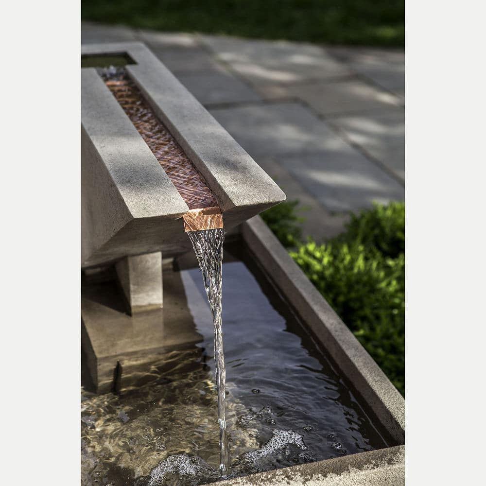 Ultra Modern Triad Outdoor Water Fountain Kinsey Garden