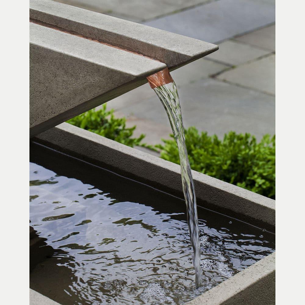 Ultra Modern Triad Outdoor Water Fountain Kinsey Garden Decor