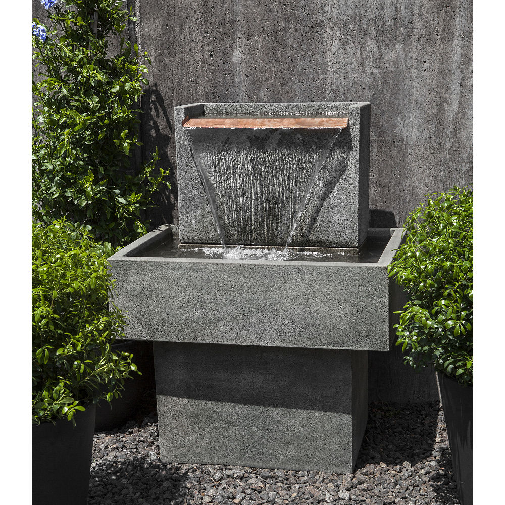 Falling Water I Stone Floor Outdoor Fountain Kinsey Garden Decor