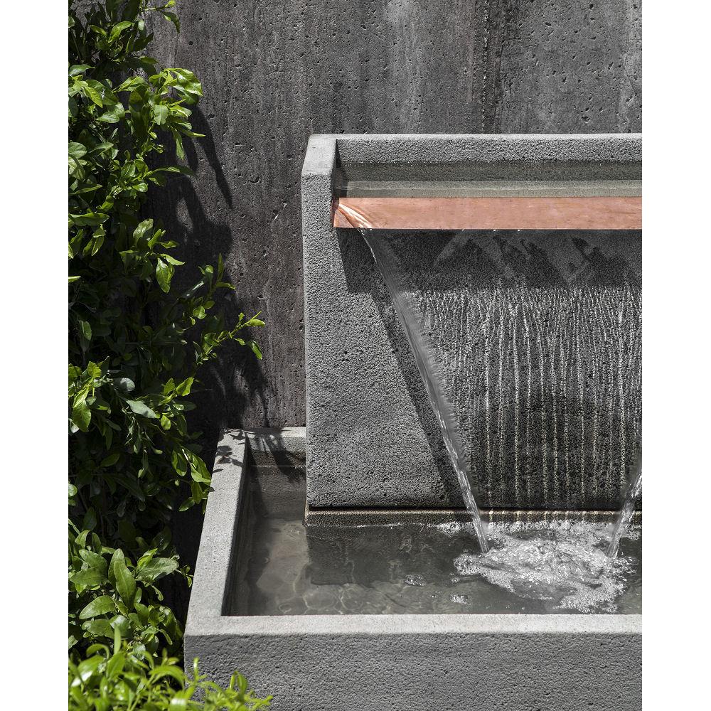 Falling Water Ii Wall Floor Stone Outdoor Fountain Kinsey