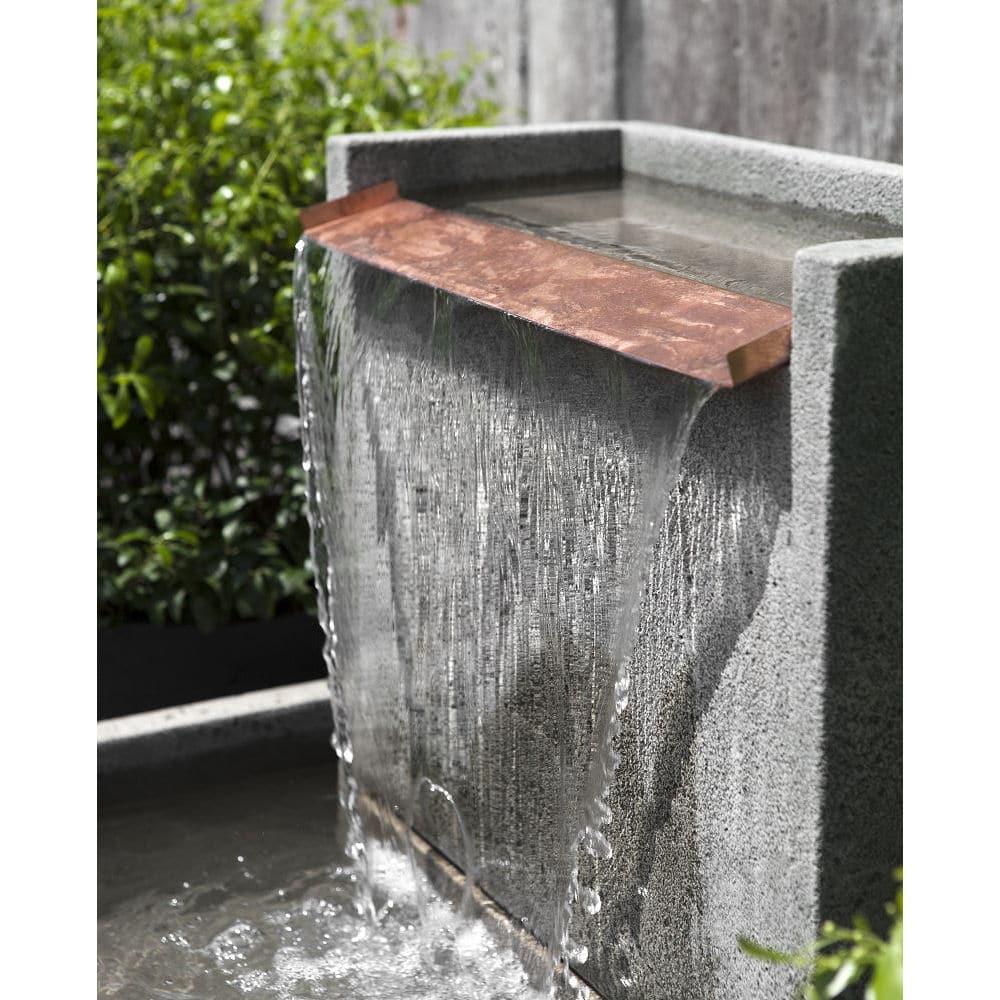 Falling Water II Wall Floor Stone Outdoor Fountain
