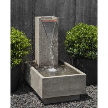 Kinsey Garden Decor Falling Water IV Wall Fountain