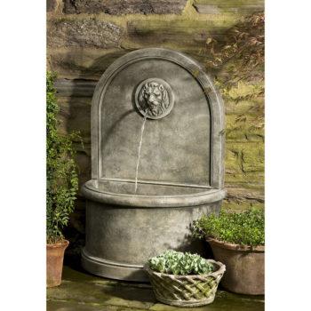 Kinsey Garden Decor Lion Wall Water Fountain