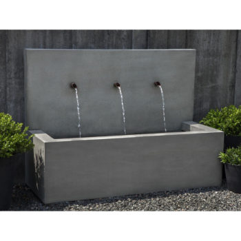 Modern Stone X3 Outdoor Floor Water Fountain Kinsey Garden
