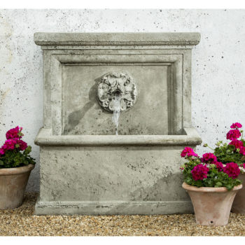 Lion Head Outdoor Floor Water Fountain Kinsey Garden Decor