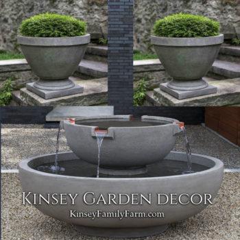 Kinsey Garden Decor del rey fountain park set