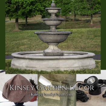 Kinsey Garden Decor extra large outdoor fountain Fonthill