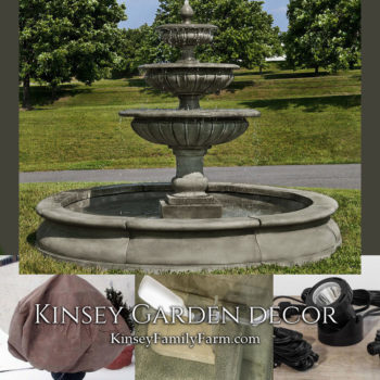Kinsey Garden Decor extra large outdoor fountain Longvue