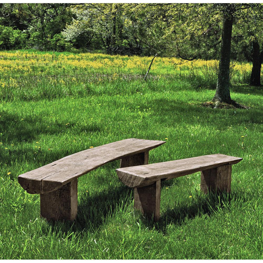 bois country rustic outdoor bench small kinsey garden decor. Black Bedroom Furniture Sets. Home Design Ideas