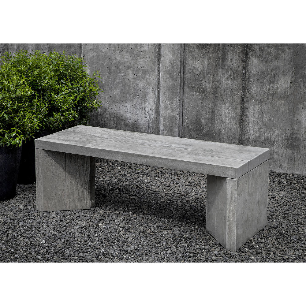 Stone And Wood Bench: Modern Chenes Brut Stone 3 Piece Patio Set