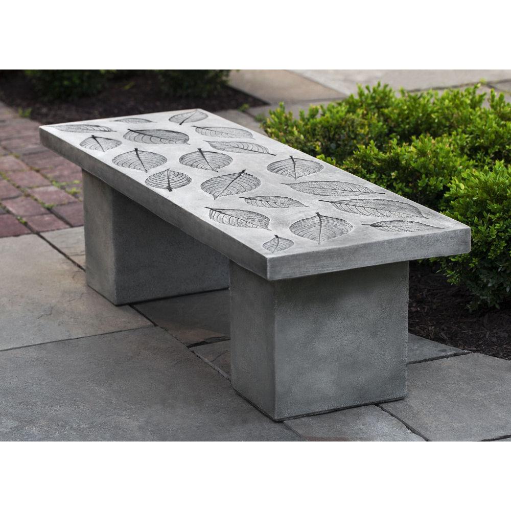 Hydrangea Leaf Cast Stone Garden Bench