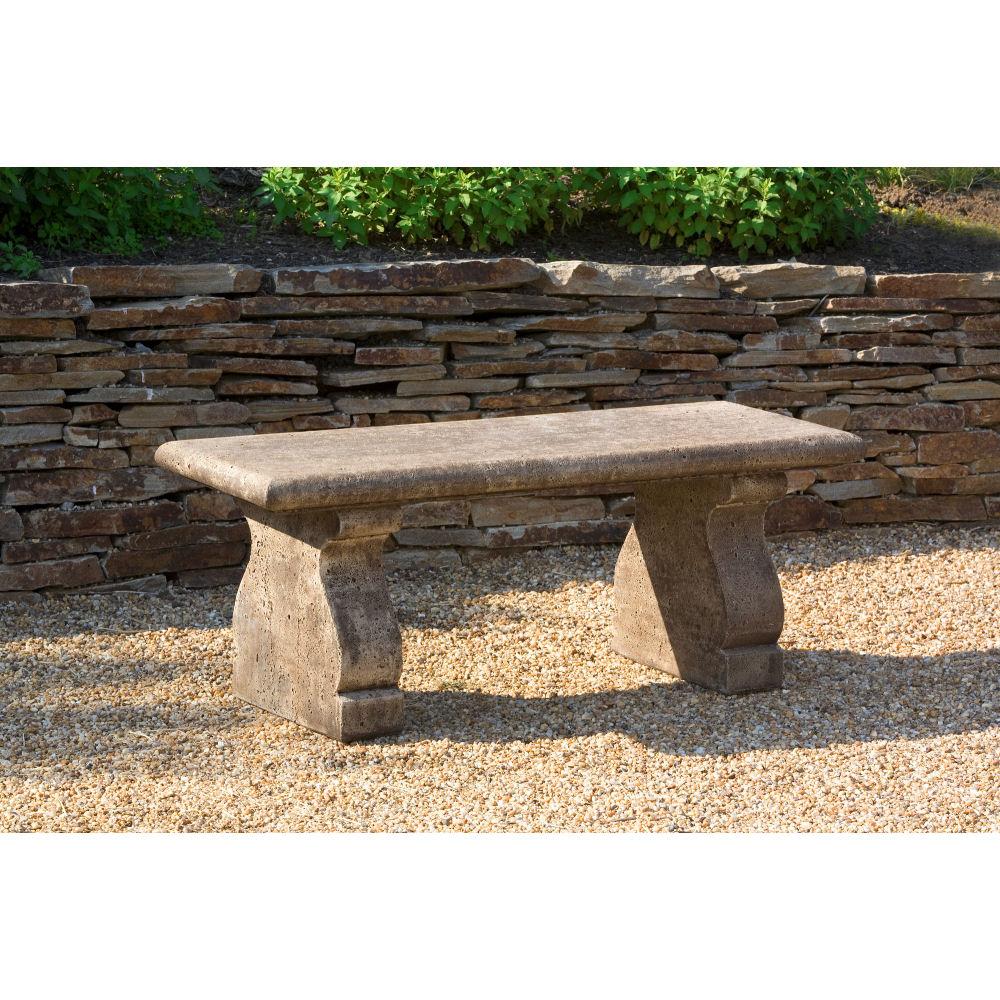 Provencal Traditional Cast Stone Garden Bench