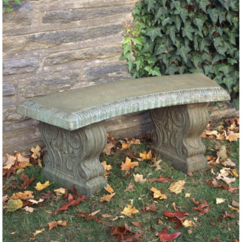 Kinsey Garden Decor Classic Traditional Curved Bench
