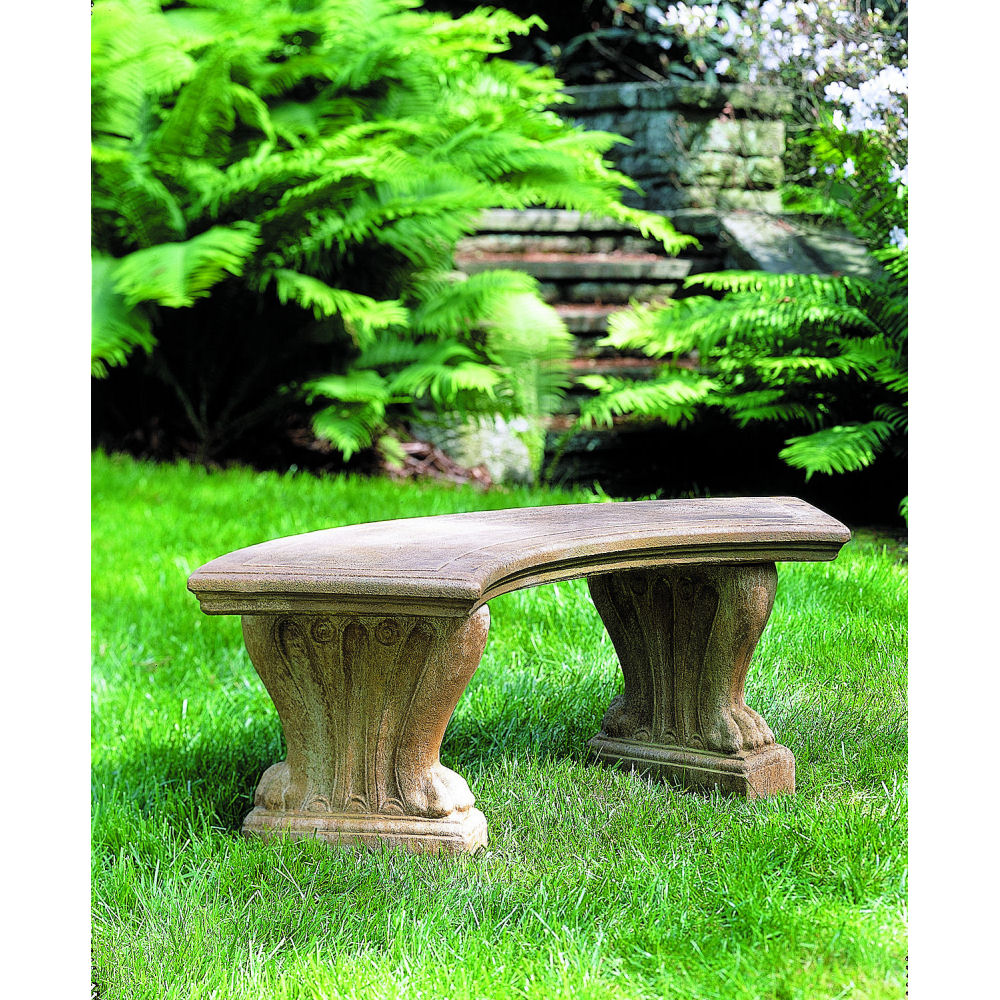Amazing Westchester Curved Stone Outdoor Bench Kinsey Garden Decor Gmtry Best Dining Table And Chair Ideas Images Gmtryco