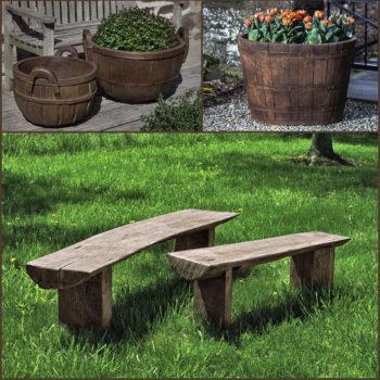 Cast Stone Garden Benches For Kinsey Decor