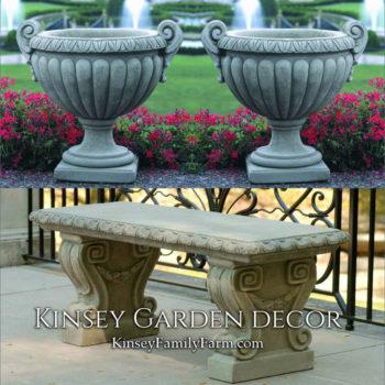 Kinsey Garden Decor Longwood Volute bench