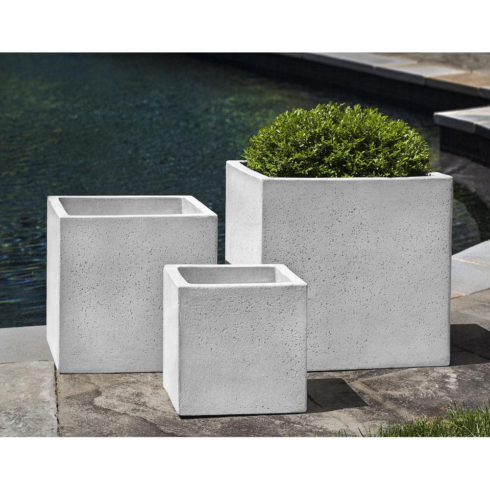 Laguna Fiber Cement Square Planters White