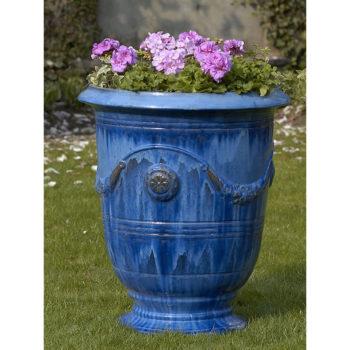 Kinsey Garden Decor ceramic Anduze Urn Blue