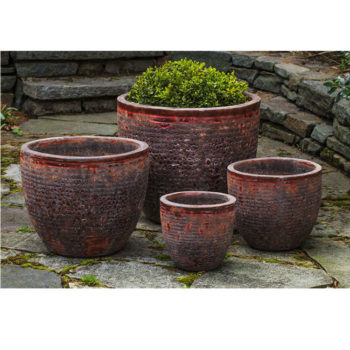Red Ceramic Planters For Kinsey