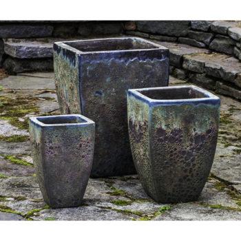 Kinsey Garden Decor ceramic Banteay Planter Green